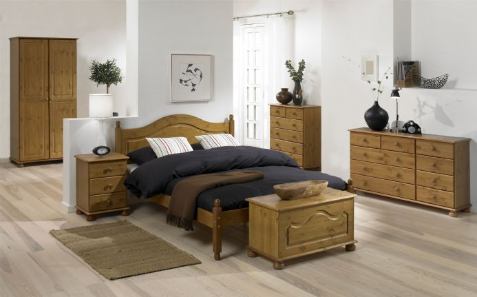 CARLTON PINE 4'6 LOW FOOT END BED PINE